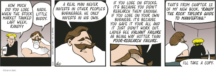 Comic Strip Darrin Bell  Rudy Park 2015-08-31 poor