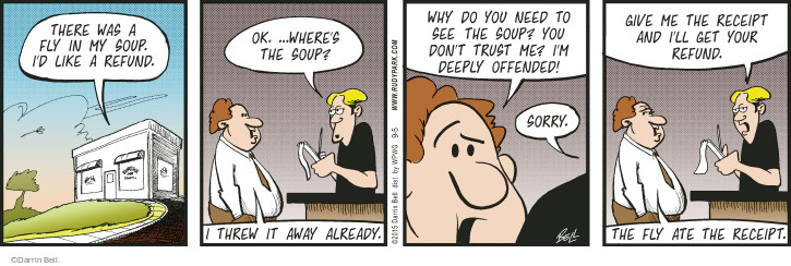 Comic Strip Darrin Bell  Rudy Park 2015-09-05 mistrust