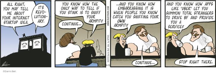 Comic Strip Darrin Bell  Rudy Park 2015-09-10 arm