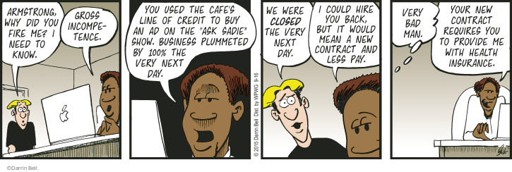 Comic Strip Darrin Bell  Rudy Park 2015-09-16 health insurance