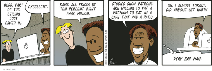 Comic Strip Darrin Bell  Rudy Park 2015-09-19 raise