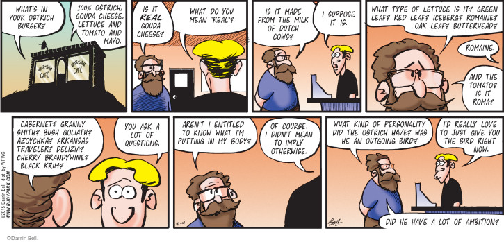 Comic Strip Darrin Bell  Rudy Park 2015-10-04 dining out