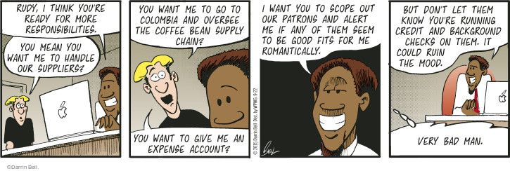 Comic Strip Darrin Bell  Rudy Park 2015-09-22 coffee bean