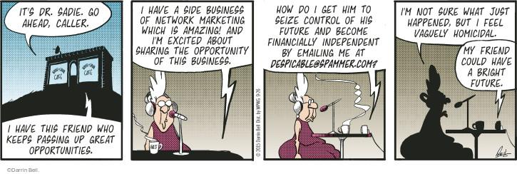 Comic Strip Darrin Bell  Rudy Park 2015-09-26 marketing advertising