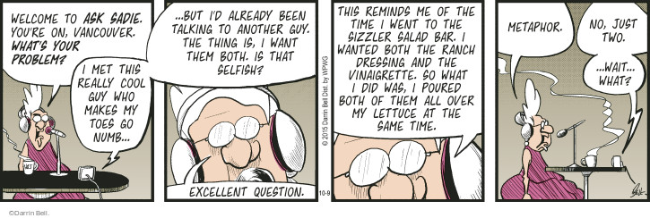 Comic Strip Darrin Bell  Rudy Park 2015-10-09 question