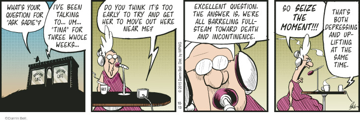 Comic Strip Darrin Bell  Rudy Park 2015-10-13 whole