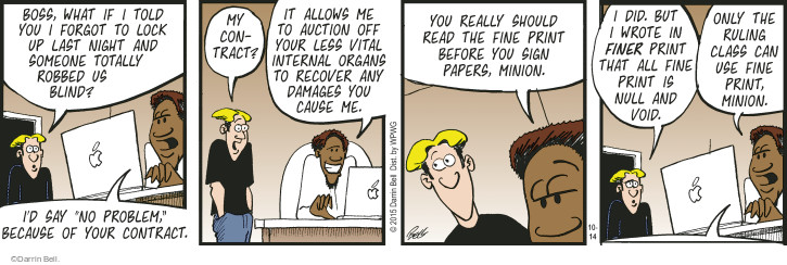 Comic Strip Darrin Bell  Rudy Park 2015-10-14 agreement