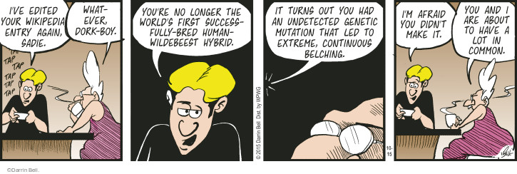 Comic Strip Darrin Bell  Rudy Park 2015-10-15 make