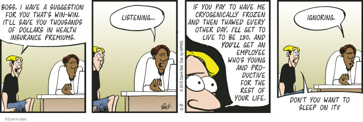 Comic Strip Darrin Bell  Rudy Park 2015-10-17 health insurance