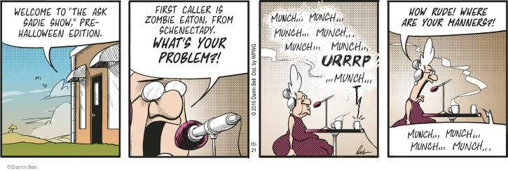 Comic Strip Darrin Bell  Rudy Park 2015-10-21 edition