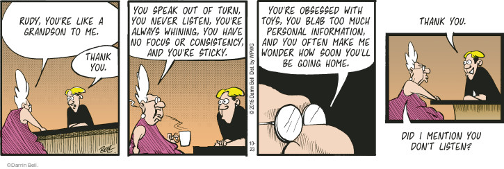 Comic Strip Darrin Bell  Rudy Park 2015-10-23 toy