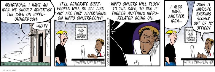 Cartoonist Darrin Bell  Rudy Park 2015-10-27 marketing advertising