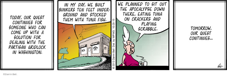 Comic Strip Darrin Bell  Rudy Park 2015-10-29 Scrabble