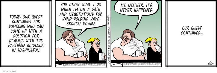Comic Strip Darrin Bell  Rudy Park 2015-10-31 solution