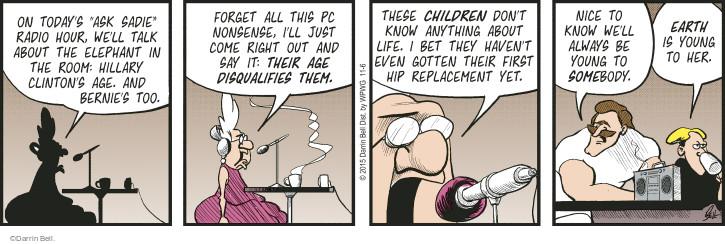 Comic Strip Darrin Bell  Rudy Park 2015-11-06 correct