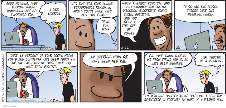 Comic Strip Darrin Bell  Rudy Park 2015-11-22 negative review