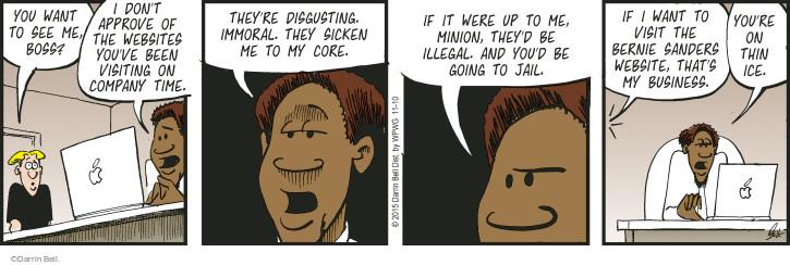 Comic Strip Darrin Bell  Rudy Park 2015-11-10 2016 Election Bernie Sanders