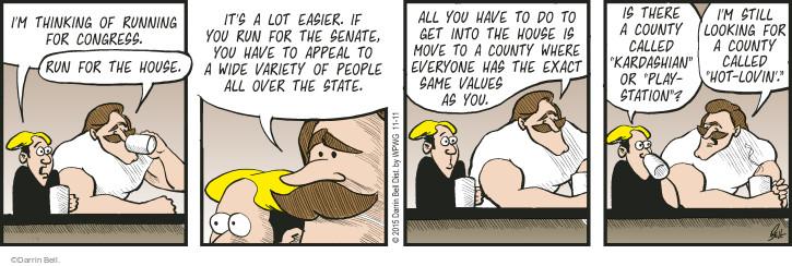 Cartoonist Darrin Bell  Rudy Park 2015-11-11 easier