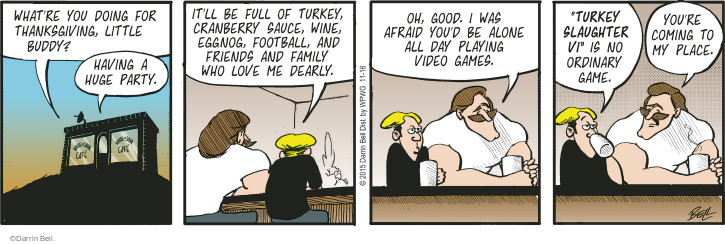 Comic Strip Darrin Bell  Rudy Park 2015-11-16 Thanksgiving family