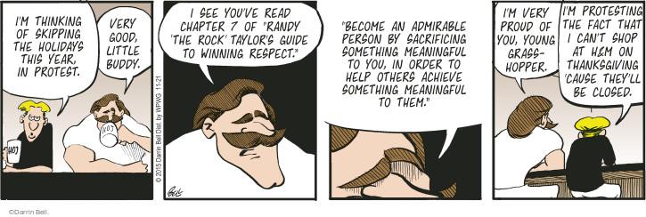 Cartoonist Darrin Bell  Rudy Park 2015-11-21 good advice