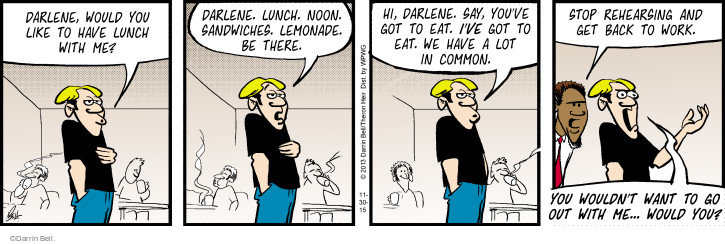 Comic Strip Darrin Bell  Rudy Park 2015-11-30 wouldn't