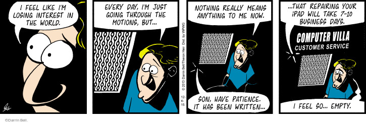 Comic Strip Darrin Bell  Rudy Park 2015-12-04 lose