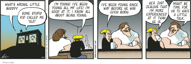 Comic Strip Darrin Bell  Rudy Park 2015-12-07 youth
