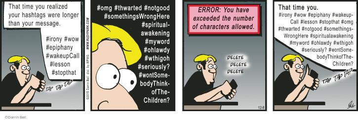 Comic Strip Darrin Bell  Rudy Park 2015-12-08 error