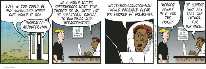 Cartoonist Darrin Bell  Rudy Park 2015-12-15 claim