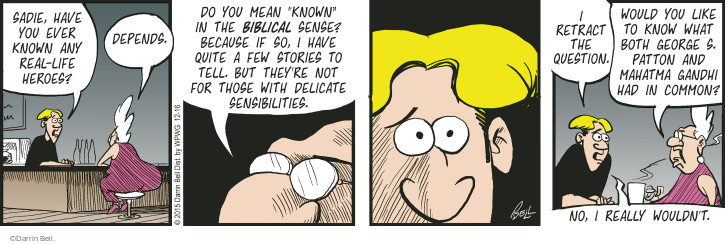 Comic Strip Darrin Bell  Rudy Park 2015-12-16 Delicate
