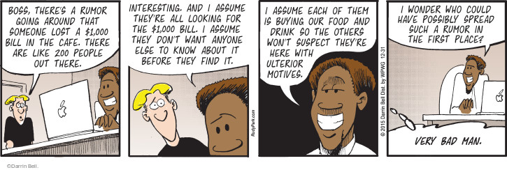 Comic Strip Darrin Bell  Rudy Park 2015-12-31 possibly