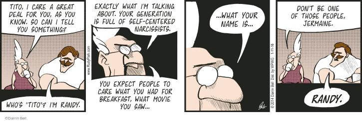 Comic Strip Darrin Bell  Rudy Park 2016-01-11 breakfast