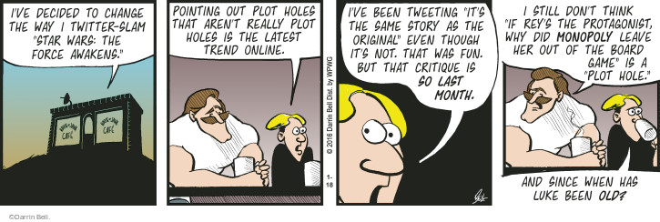 Comic Strip Darrin Bell  Rudy Park 2016-01-18 hole