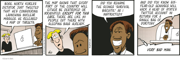 Comic Strip Darrin Bell  Rudy Park 2016-01-27 greedy