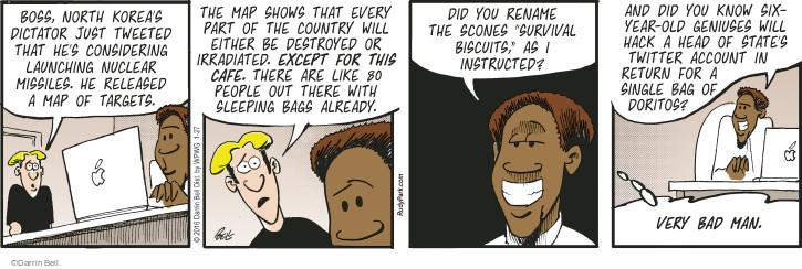 Comic Strip Darrin Bell  Rudy Park 2016-01-27 destroy
