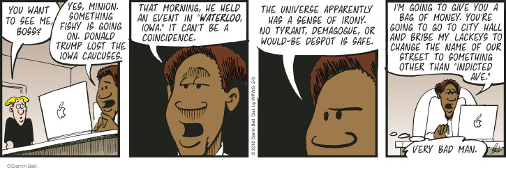 Comic Strip Darrin Bell  Rudy Park 2016-02-08 payoff