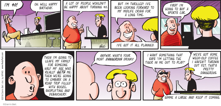 Comic Strip Darrin Bell  Rudy Park 2016-02-28 forward