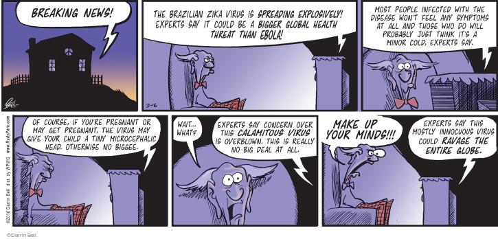 Cartoonist Darrin Bell  Rudy Park 2016-03-06 disease