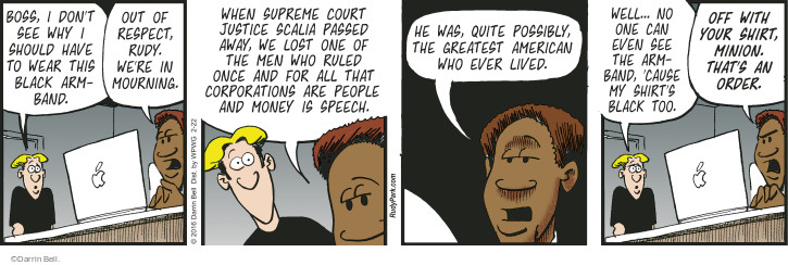 Comic Strip Darrin Bell  Rudy Park 2016-02-22 judge