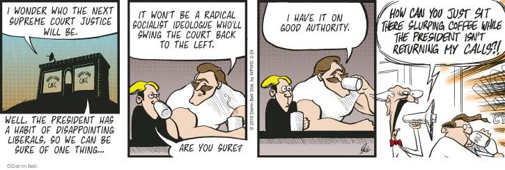 Comic Strip Darrin Bell  Rudy Park 2016-02-24 Supreme Court