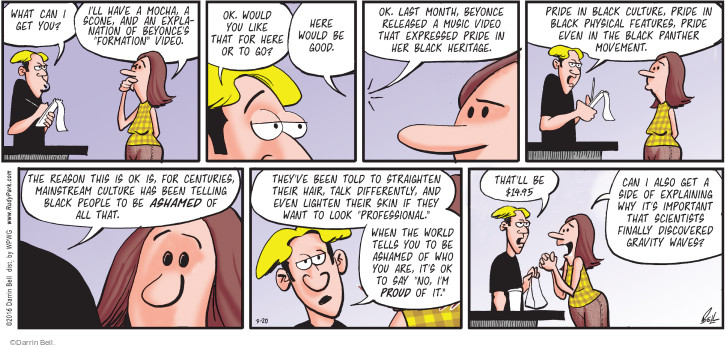 Comic Strip Darrin Bell  Rudy Park 2016-03-20 talk