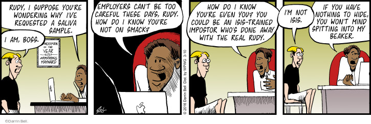 Comic Strip Darrin Bell  Rudy Park 2016-03-10 personal day
