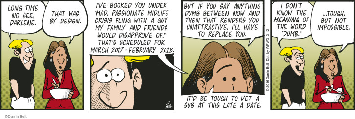 Comic Strip Darrin Bell  Rudy Park 2016-03-12 tough