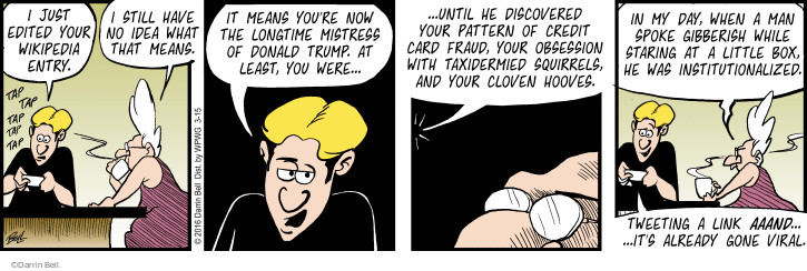 Comic Strip Darrin Bell  Rudy Park 2016-03-15 obsession