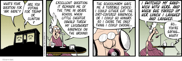 Comic Strip Darrin Bell  Rudy Park 2016-03-31 sandwich