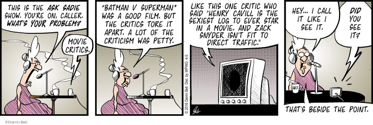 Comic Strip Darrin Bell  Rudy Park 2016-04-05 movie review