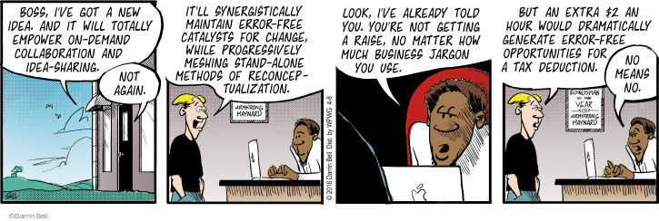 Comic Strip Darrin Bell  Rudy Park 2016-04-08 raise