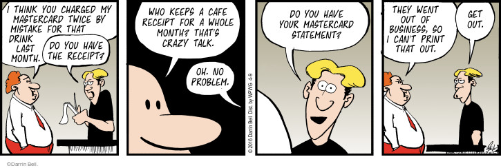 Comic Strip Darrin Bell  Rudy Park 2016-04-09 crazy