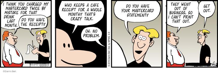 Cartoonist Darrin Bell  Rudy Park 2016-04-09 customer