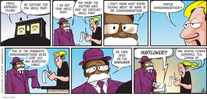 Comic Strip Darrin Bell  Rudy Park 2016-04-24 talk